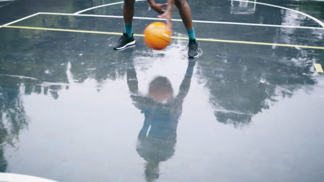 Come rain or shine he'll make it to the court