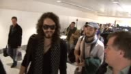 Comedian Russell Brand flies out of Heathrow to LA after his suspension by the BBC for making inappropriate comments on air 'I have only love' Brand...