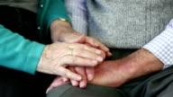 Comforting hands.