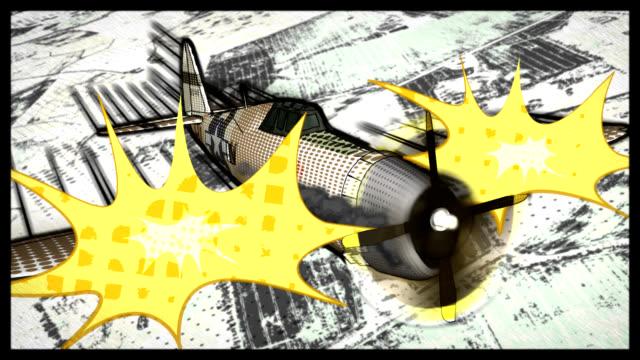 Comic Book Style P-47 Thunderbolt