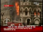 Commandos killed three gunmen on Saturday in Mumbai's Taj Hotel bringing an end to a twoday Islamic militant assault on India's financial capital...