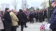 A commemoration is held in Sarcelles north of Paris for the victims of the Jewish school attack in Toulouse three years ago