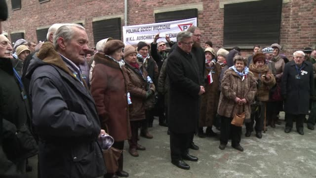 Commemorations of the 70th anniversary of the libertion of nazi camp Auschwitz Birkenaus liberation began tuesday morning