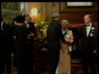 Commomwealth Heads of Government meeting NAT Edinburgh Holyrood House MS Queen Elizabeth II and Prince Philip greeting Commonwealth heads of govt at...
