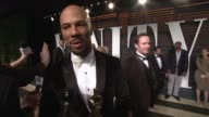 INTERVIEW Common at the 2015 Vanity Fair Oscar Party Hosted By Graydon Carter at Wallis Annenberg Center for the Performing Arts on February 22 2015...