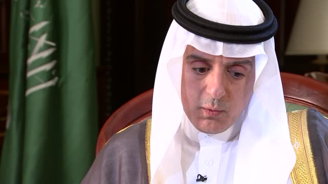 Commons committees disagree on continuing UK arms sales LIB / TX ENGLAND London INT Adel bin Ahmed AlJubeir interview SOT we have legitimate purpose...