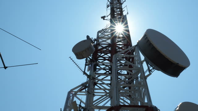Communications tower time lapse