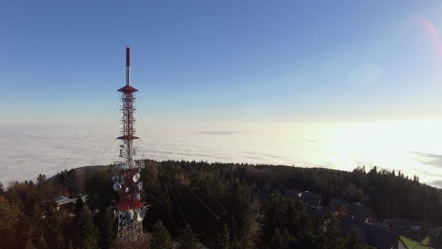 Luftbild Kommunikation Turm