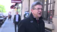 Communistbacked eurosceptic JeanLuc Melenchon who crashed out of France's unpredictable presidential election Sunday arrives at his campaign...