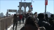Community activists organized the 'Selma is Everywhere' march from lower Manhattan to Brooklyn Bridge to celebrate the 50th anniversary of the...