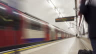 Commuters at rush hour on the London Underground.