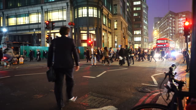 Commuters out side Liverpool street station.