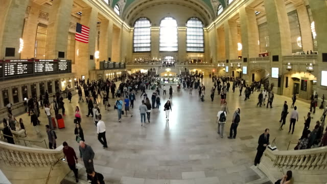 WS TL Commuters walking in Grand Central Station / New York City, New York State, United States