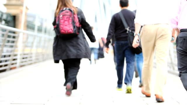commuters: workers walking