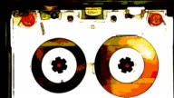 ANIME: compact cassette very vintage tape recorder [009]