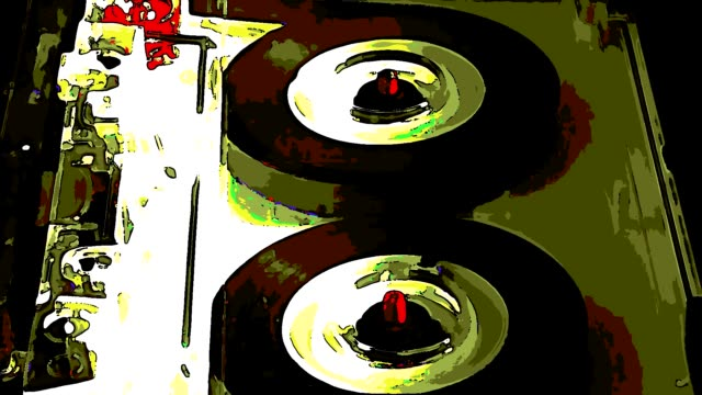 ANIME: compact cassette very vintage tape recorder [010]