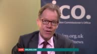 Companies warned about cold calling ENGLAND CHESHIRE Wilmslow INT Christopher Graham LIVE interview SOT Talks of a change in the law that enabled the...