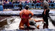 22 competitors including 6 women battled for the World Gravy Wrestling championship in the Lancashire region of England