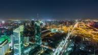 T/L WS HA Complex Interchange and Illuminated Skyscrapers / Beijing, China