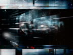 Complex revolving patterns. Multimedia, TV effect