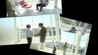 CGI Computer animation, of office scenes