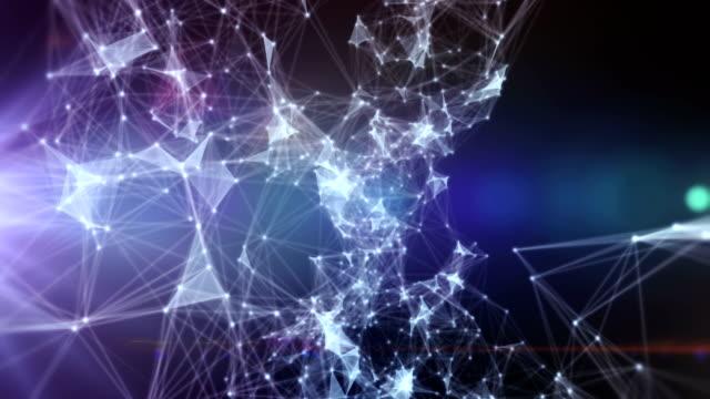 Dator digitala prickar yta noder anslutningar techology loop bakgrund