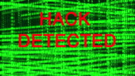 Computer hack attack and data destruction