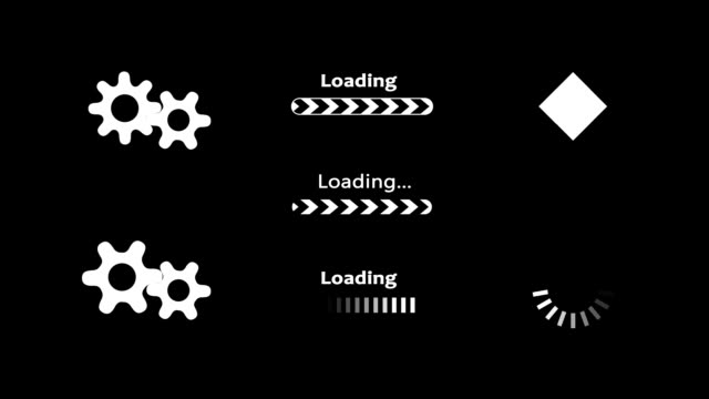 Computer loading animation
