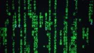 CU ZI ZO Computer monitor displaying matrix code numbers