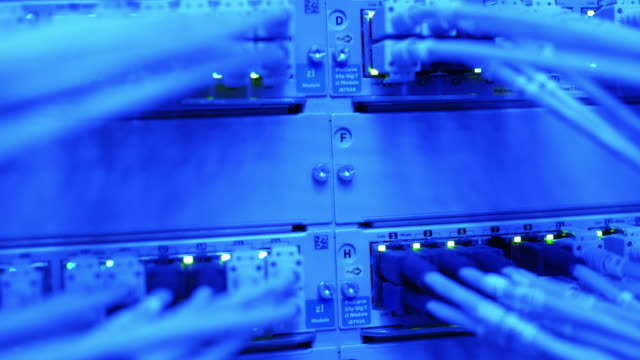 Computer Network Server Operating Tilt Down (4K/UHD)
