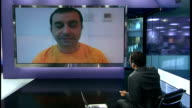 Concerns for 20 doctors sentenced for 'collaborating' with protesters ENGLAND London GIR INT Doctor Bassem Dhaif 2 WAY webcam interview from Bahrain...