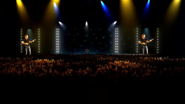 Konzert arena und große Menschenmenge