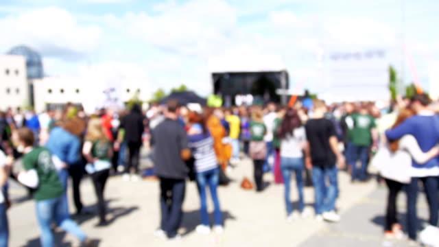 Concert Crowd blured