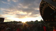 W/S EXT Concert Crowd Festival Day Sunset Stage