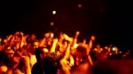 Konzert Menschenmenge.
