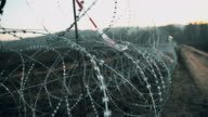 Concertina wire on the border