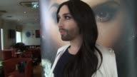 INTERVIEW Conchita Wurst on breasts track selection Eurovision contestants and scat singing at Conchita Wurst Interview on 25th April 2015 in London...