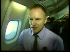 Concorde to be taken out of service for good LIB Singer Sting being interviewed on plane