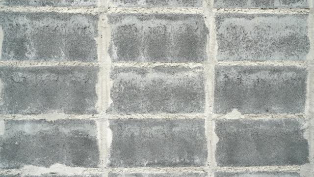 Betonblock Wand.