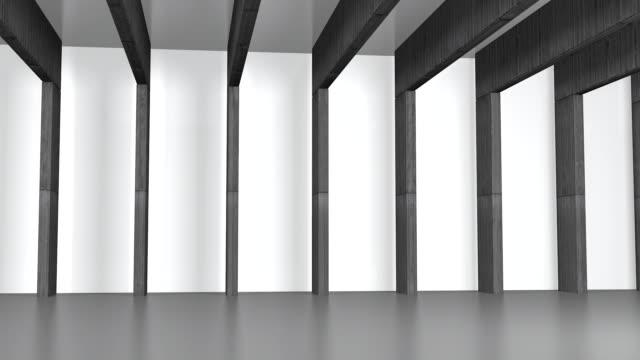 Calcestruzzo Hall con travi