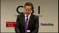 David Cameron speech David Cameron MP speech SOT Let me take each in turn / First providing a competitive environment for private sector growth /...