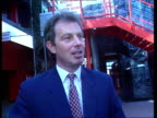 TUC Conference Day 2 EXT CMS Tony Blair MP intvwd SOF this vote allows us to put behind us the arguments of industrial conflict