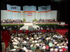 TUC Conference Day 2 INT TGV Congress in session