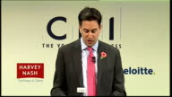 Ed Miliband speech Ed Miliband speech continued SOT And while for individual companies this had benefits for too many families they had no option but...