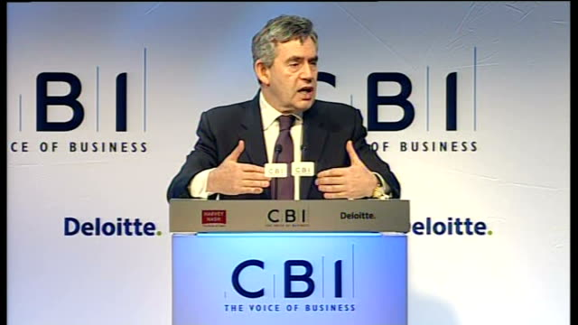 Gordon Brown speech Brown answering question SOT Let me deal with Anthony's question first Sovereign wealth funds are increasingly important I am...