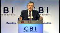 Gordon Brown speech Brown answering question SOT The reason why I think fiscal policy is also important today is because we are not in an...