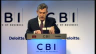 Gordon Brown speech Brown speech SOT Whatever the troubles of this year and next we are in the midst of this transition to a truly global economy...