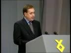 SNP Conference Inverness GV Clapping delegates PAN RL platform CMS Alex Salmond MP speech SOT if London declares it has no selfish or strategic...