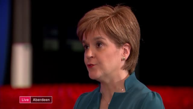Nicola Sturgeon speech SCOTLAND Aberdeen INT Nicola Sturgeon MSP LIVE interview SOT
