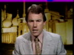 """ITN Studio Peter Sissons i/c SOF """"So congress ended…meeting about the seamen's strike"""" = Sign off"""